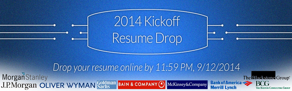 Kickoff Resume Drop